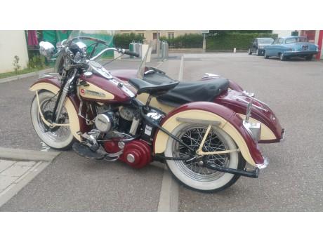 Harley Davidson 750 WL avec side car
